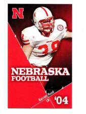 2004 Nebraska Cornhuskers Football Pocket Schedule NBA cards -> You Pick 'em