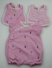 RALPH LAUREN GIRL BABY SET COTTON PINK CODE J50 125AH CJY08 R6747