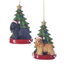 Cocker Spaniel w/Tree Ornament