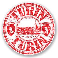 2 x 10cm Turin Torino Italy Vinyl Sticker Laptop Car Travel Luggage Label #5973