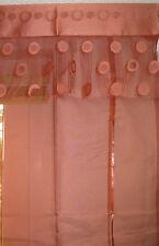 Raffrollo, Raff-Gardine, Vorhang,rotbraun, terra, edel, Fransen, HxB 140 x 100cm