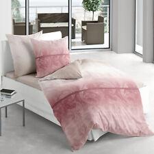 Irisette Bettwäsche Mako-Satin Capri 8721-60 Ranken rosa-rot 100% Baumwolle