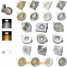 5W LED Deckenstrahler | Rund | Eckig | IP20 | IP44 | Gu10 | 230V | Einbau Spots