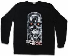 Skullhead MODEL t-800 Manica lunga T-shirt Cyberdine Skynet Cyborg Terminator cranio