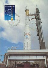 "AR-5LC Maxi Card SWITZERLAND ""1st Day - ARIANE European Space Agency"" 1979"
