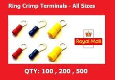 Ring Crimps Connectors Electrical Ring Crimp Terminals 3.2,3.7,4.3,5.3,6.4,8.4mm