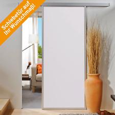 Schiebetür Holz Holzschiebetür weiß Sondermaß Wunschmaß Softclose Zimmertür Tür
