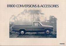 MAZDA B1800 PICK UP conversioni e accessori 1981 UK MARKET FOLDOUT opuscolo