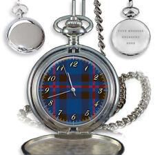 Reloj de Bolsillo Elliot Clan Escocés Tartán De Cuarzo Grabado Personalizado