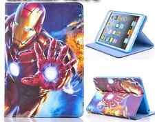 "Leather Smart Case Cover for iPad Mini 1/2/3/4, iPad 9.7""/ Air 2/Air - Iron Man"