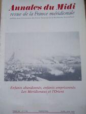 ANNALES DU MIDI 1986 No 173 MARSEILLE et les MARSEILLAIS XVIIéme - XXéme SIECLE