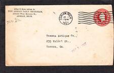 Newspaper The Adrian Daily Telegram Michigan 1927 PSE 2¢ Round Die Cover Z42