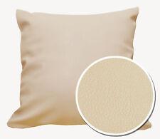 Pb302a Beige Faux Leather Skin Soft PU Cushion Cover/Pillow Case*Custom Size*