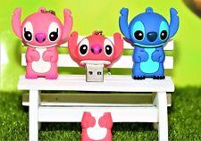 Cute Cartoon Blue/Pink Stitch Pen/Flash Drive Gift Storage Memory Stick USB 2.0