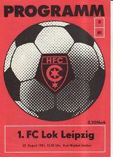 OL 81/82 HFC Chemie - 1. FC Lok Leipzig