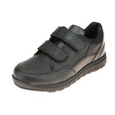 Geox Xunday Boys Black School Shoe size eu kids hook loop leather memory foam