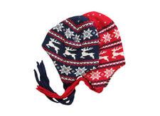 IOBIO Hat 100% MERINO WOOL baby boy girl winter organic red blue bonnet knitted