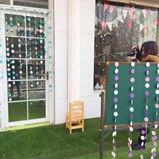 UK DIY Raindrop Paper Banner Garland 1.2M Hanging Backdrop Wedding Party Decor