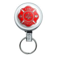 Retractable Reel Badge Key Holder with Belt Clip Firefighter Firemen