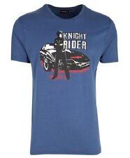Knight Rider TV T-shirt 80s retro David Hasselhoff uomini men Kitt Baywatch Top