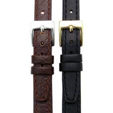 Señoras genuino cuero reloj correa impar Tamaños 9mm 11mm 13mm Negro o Marrón