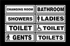 Various Toilet Door Signs - Gents, Ladies, Disabled, Showers, Changing Room Shop
