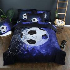 Sport Football Duvet Cover Set Twin Queen King Kids Boy Bedding Pillowcase Print