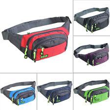 Women Men Waist Fanny Pack Belt Bag Phone Pouch Travel Gym Hip Purse Wallet