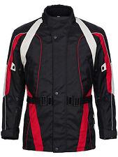 Motorradjacke Textil Cordura Roller Biker Schwarz Rot Weiß Grau Gr M bis 4XL 788