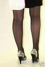 Black Gloss Tights With Silver Seam 10 Denier
