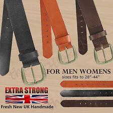 "Forte cuir 1.5"" cuir pleine fleur Jeans Pantalon UK Handmade 40 mm Ceinture Large"