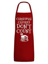 Schürze Christmas Calories Don't Count Rot
