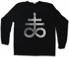 LEVIATHAN CROSS LANGARM T-SHIRT Sulfur Pentagram 666 Sign Double Cross