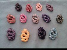 Peruvian Ceramic Chinese Dragon Bead Brightly Colored or Raku DIY Charm