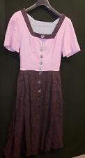 Damen Trachten Kleid braun mit rosa  Gr. 34