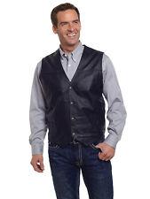 Cripple Creek Mens Black Boar Nappa Leather Western Snap Front Vest