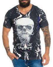 Cipo Baxx Herren T-Shirt Poloshirt Totenkopf Skull