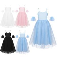 Kinder Mädchen Ballettkleid Spaghetti-Träger Romantisch Tüll Kleider Tanzkleid