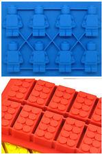 ICE Cube VASSOI cifre e mattoni stile VASSOIO-Divertimento per bambini!