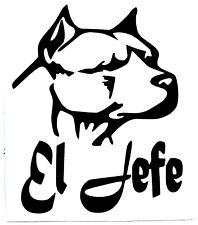 "PITT-BULL EL JEFE Silhouette VINYL Decals Sticker 8""W X 10""H  BUY 2 GET 1 FREE"