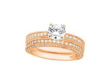 2.00Ct Round Cut Diamond Milgrain Engagement Ring Set Solid 18k Gold IJ SI2