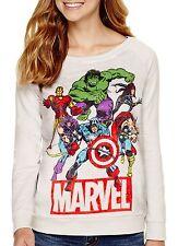 Marvel Avengers Velour Women's Sweatshirt Pullover - Juniors M XL - New w/Tags