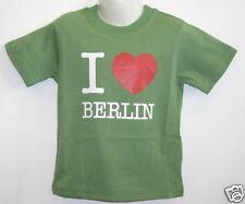 Kinder T-shirt * I Love Berlin Grün 86 bis 128