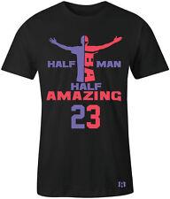 """HALF MAN HALF AMAZING"" T-SHIRT to Match Air Retro 5  ""RAPTORS"" GS"