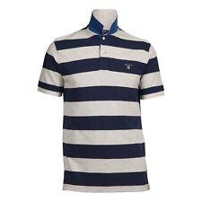 Gant Short Sleeve A.P Bar Stripe Pique Rugger (Light Grey)