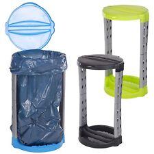 120 L pieghevole in plastica RICICLO dei rifiuti spazzatura RIFIUTI BIN BAG SACCO Supporto