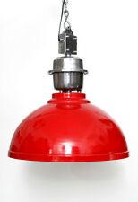 HÄNGELAMPE PENDELLAMPE INDUSTRY 52cm METALL ROT DECKENLAMPE MASSIV LAMPE LEUCHTE