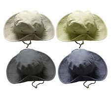 Unisex Safari Outback Australiano 100% Cotone Bush Cappello con larga tesa di