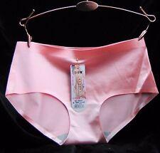 Ladies HIGH GLOSS seamless stretch nylon satin sissy brief panties 7 colors S