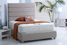 NEW Mayfair Upholstered Bed Frame Chenille Linen Velvet Bedstead